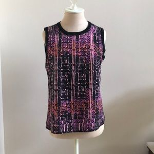 Nanette Lepore Patterned Sleeveless Blouse Size 6